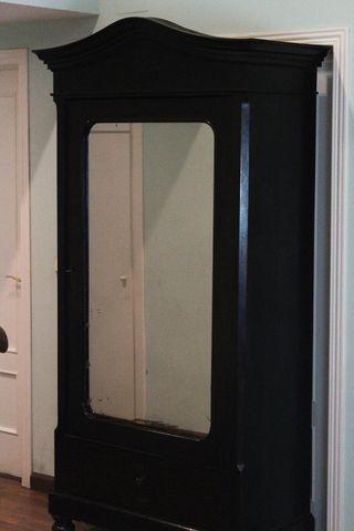 Armario ropero años 20, puerta con espejo