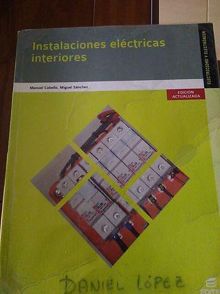 Libro Instalaciones eléctricas de interiores