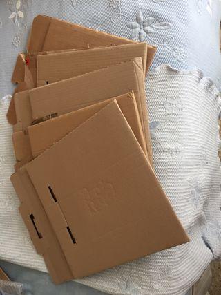 5 cajas de cartón embalaje/para vinilos