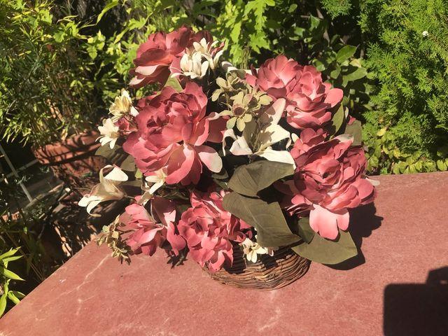 adornos para cestas de mimbre Cesta De Mimbre De Flores Artificiales Para Adorno De