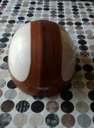casco cuero vintange marca Mini