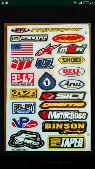 kit de pegatinas motocross DH enduro MTB quad 0000