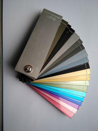 Muestrario colores anodizado