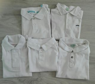 Polos blancos manga corta o larga