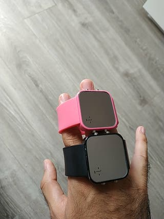 Relojes 1Face originales. Negro y rosa