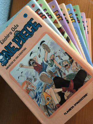 "Comics manga ""One Piece"", buen estado, 1-7."