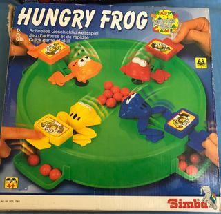 Juego de mesa. Juguete. Hungry frog (tragabolas)