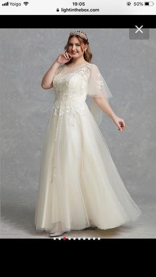 222d033bf Vestido de novia talla grande de segunda mano en WALLAPOP
