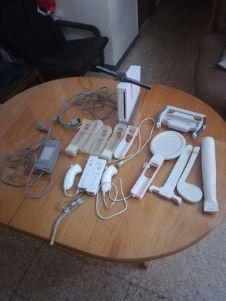 wii con accesorios, juegos y tabla de wii
