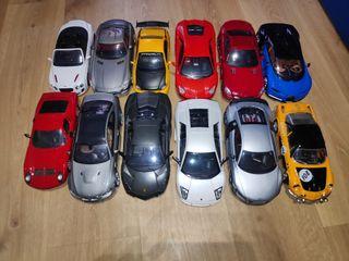 Maquetas a escala 1:18 de diversos fabricantes.