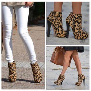 Botín leopardo de Zara.