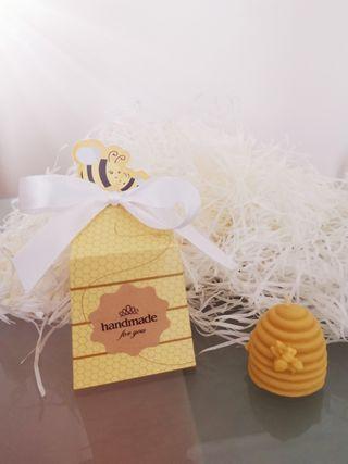 Handmade organic beeswax candle gift box