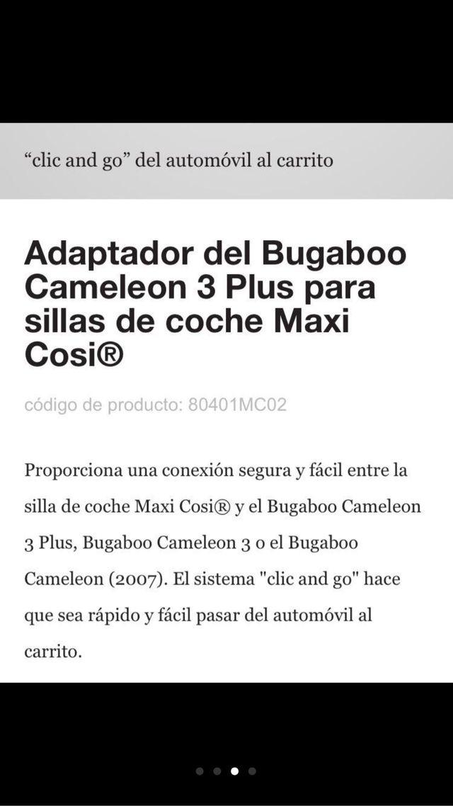 Adaptadores maxi-cosi a bugaboo.
