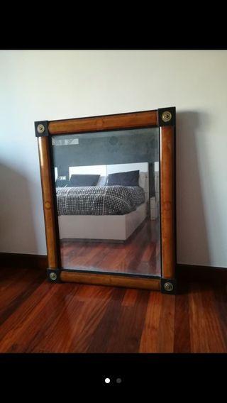 Espejo antiguo madera de segunda mano en wallapop - Espejos grandes segunda mano ...