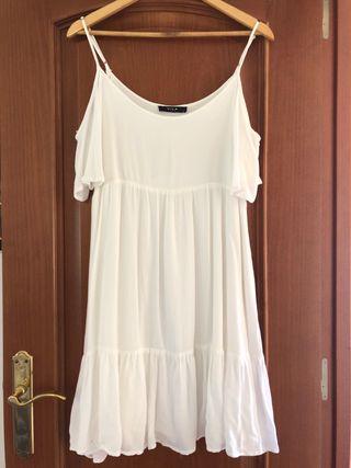 Vestido Blanco Ibicenco Hombro descubierto