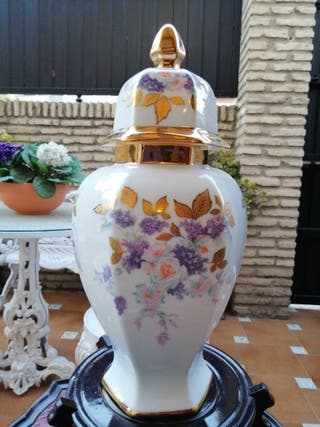 jarrón Tibor porcelana bohemia grande vintage