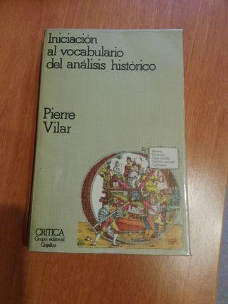 Iniciación al vocabulario del análisis histórico.