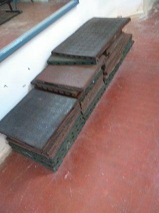 10 mtrs de suelo de caucho 4 cms grueso