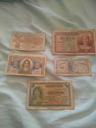 billetes republica española