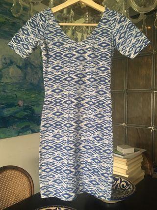 Vestido ajustado algodón XS