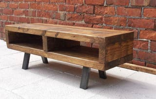 Mueble tv industrial en madera de palets