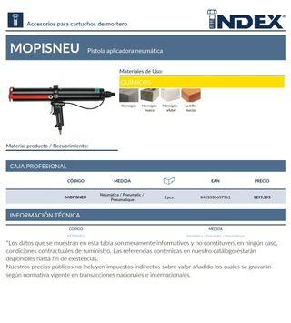Index Fixing Systems Mopisneu Pistola para Cartuchos de Mortero
