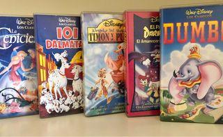 Clásicos de Walt Disney. VHS. Películas.