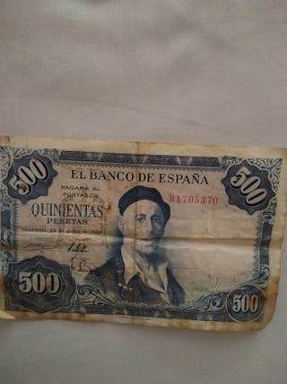 billete de 500 pesetas de 1954