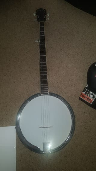 two new irin 5 string banjos for sale with cases