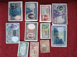 Colección billetes antiguos pesetas españolas