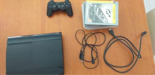 Play Station 3+Cables+Mando+7 Juegos