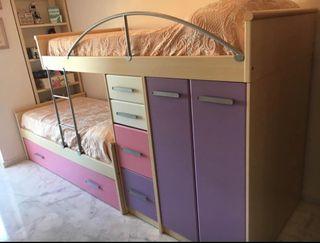 Dormitorio juvenil tipo Tren
