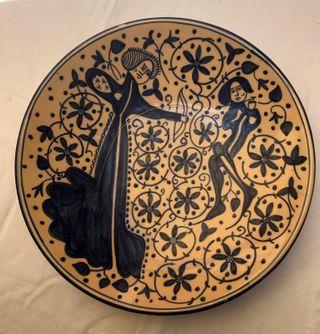 Plato de cerámica Manises. Reproducción siglo XV