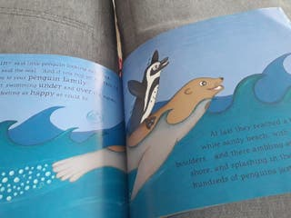 libro en inglés The Brave little Penguin