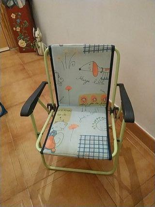 silla plegable de niños