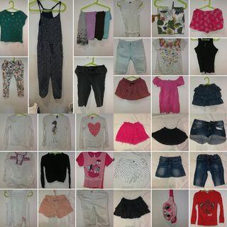 ropa lote niña 32 piezas talla 5/6 años, 116