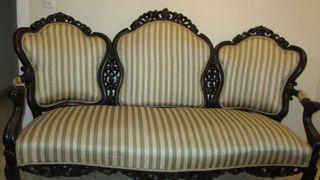 ´muebles caoba decoración estilo isabelino