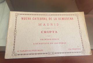 12 postales de la catedral almudena años 30