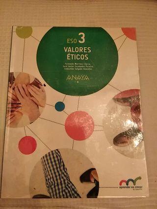 libro de texto 3° eso valores éticos Anaya