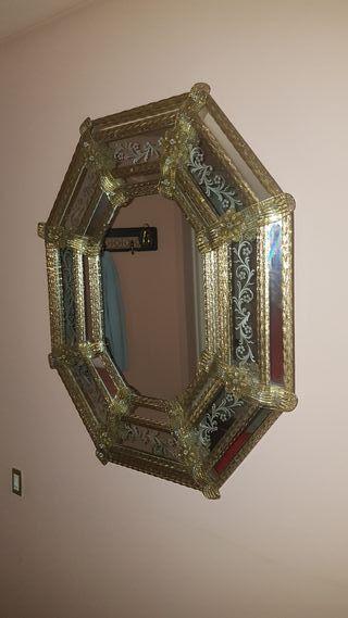 antiguo espejo veneciano