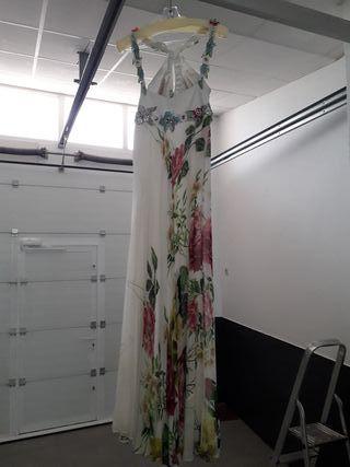 Vestido seda pintada a mano