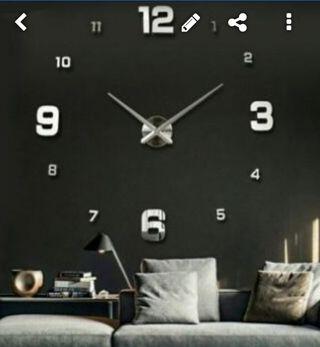 Reloj Gigante Pared PLATA 130 Cms A ESTRENAR