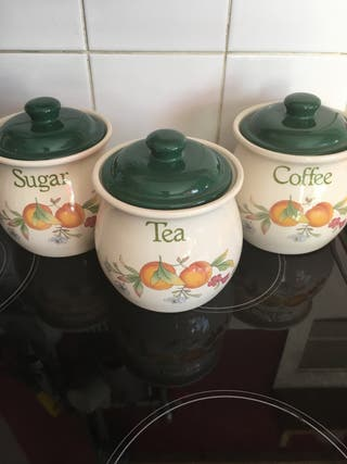 Tea coffee sugar set