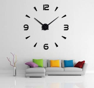 Reloj Gigante Pared NEGRO NÚMEROS MODELO 4