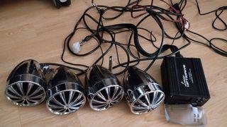 Equipo audio moto, ATV