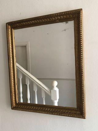 Espejo vintage dorado 53 x 63