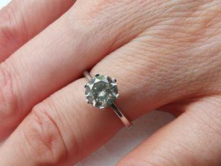 anillo oro blanco y diamante nuevo a estrenar