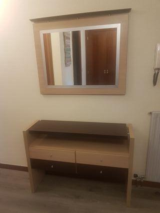 mueble entrada + espejo