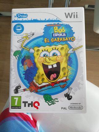 juego Wii Bob ESPONJA el garabato.