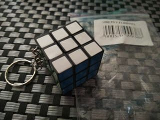 Llavero cubo de Rubik (nuevo)